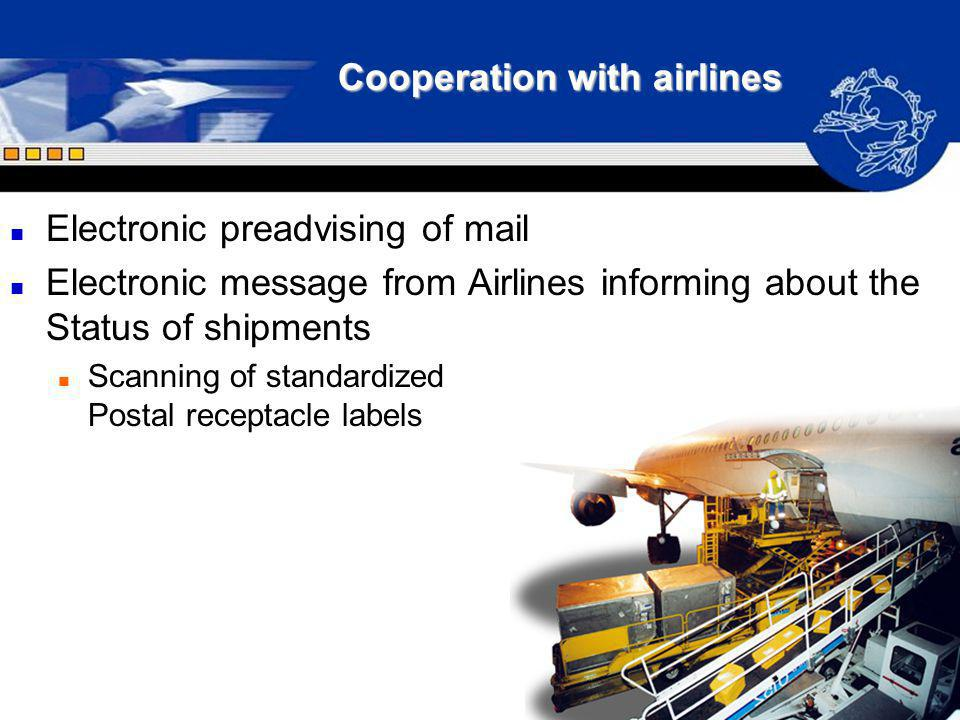 Cooperation with airlines