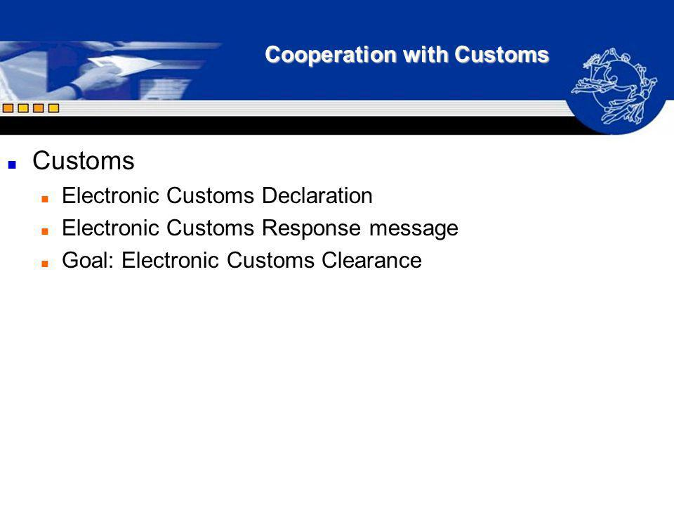 Cooperation with Customs