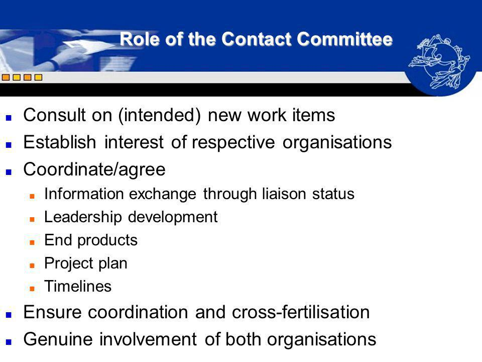 Role of the Contact Committee