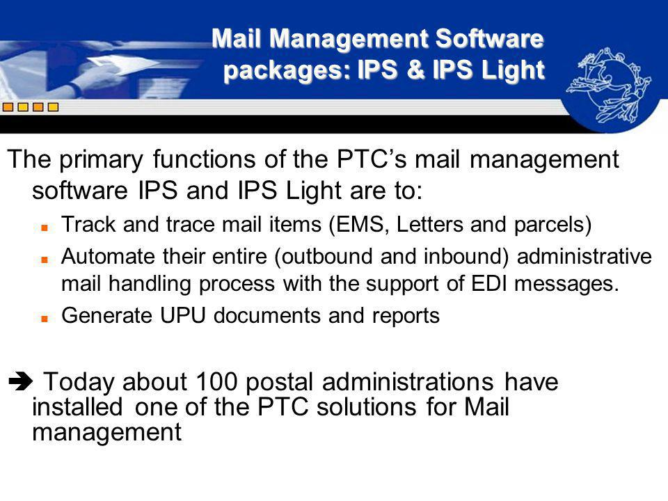 Mail Management Software packages: IPS & IPS Light