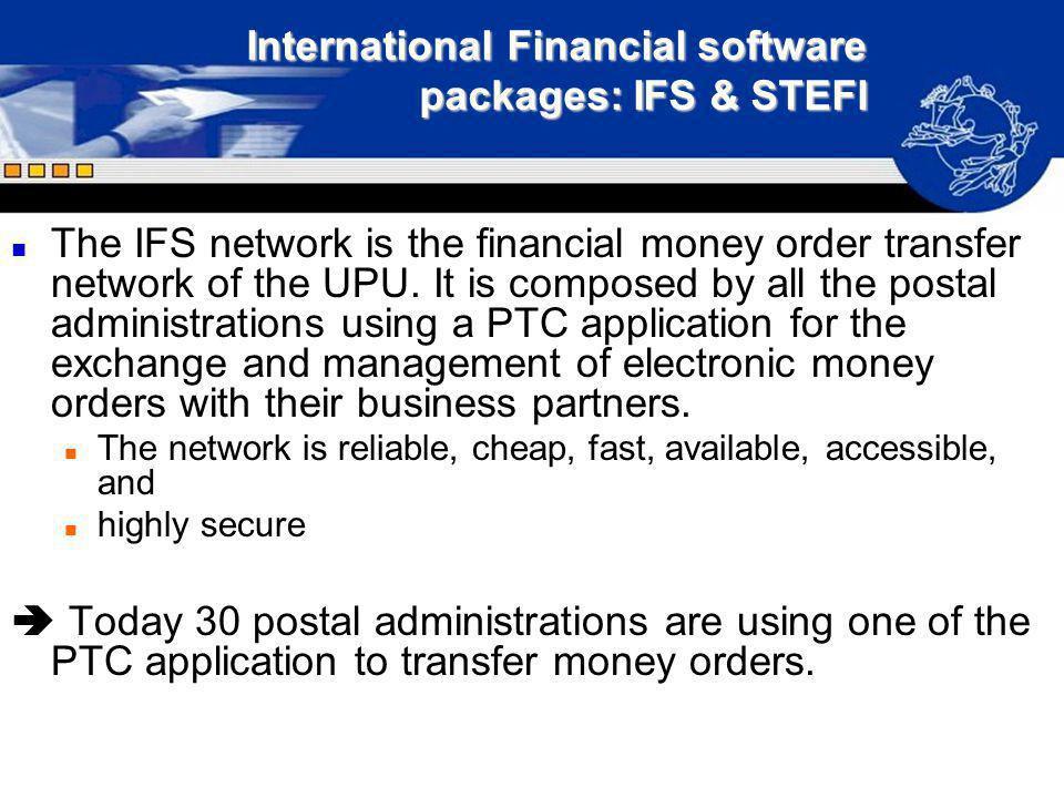International Financial software packages: IFS & STEFI