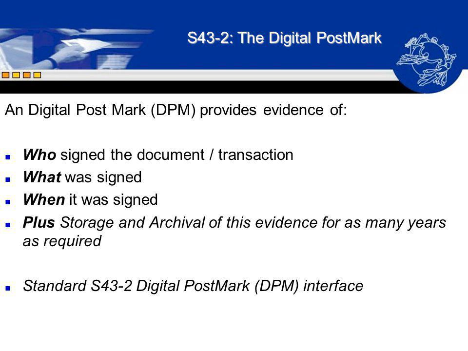 S43-2: The Digital PostMark