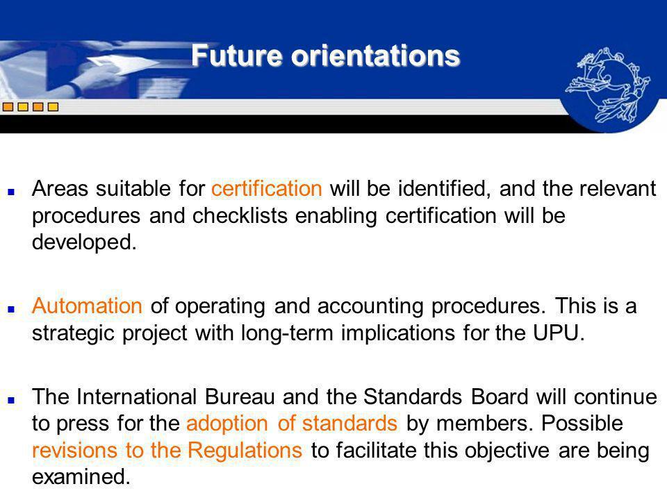 Future orientations