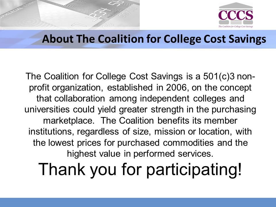 About The Coalition for College Cost Savings