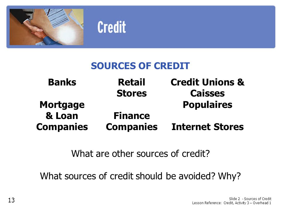 Mortgage & Loan Companies Credit Unions & Caisses Populaires