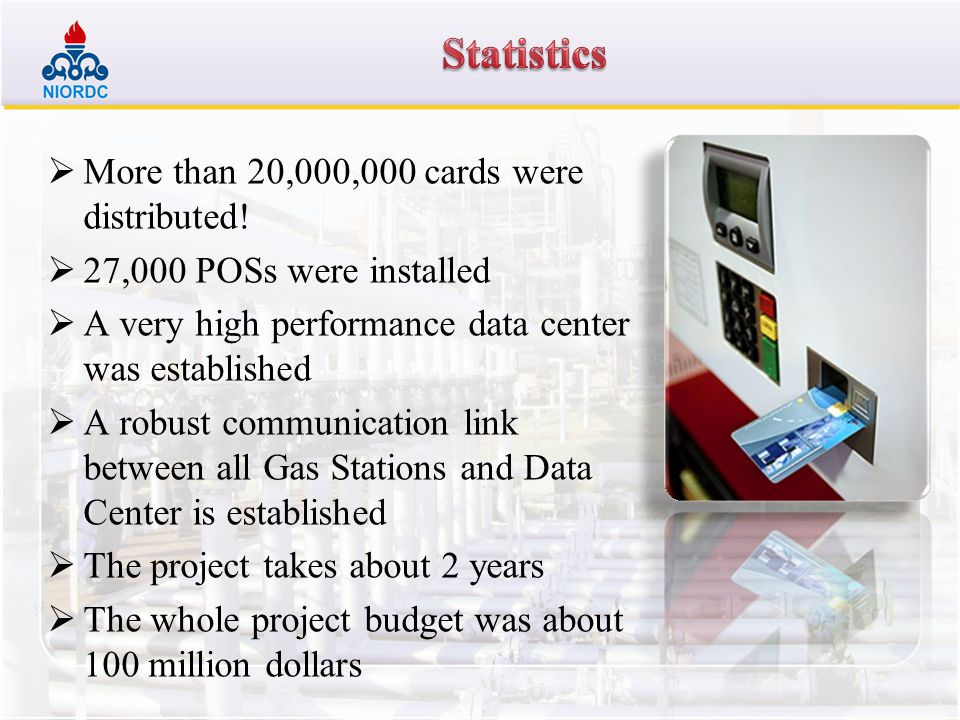Statistics More than 20,000,000 cards were distributed!