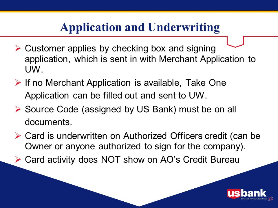 Application and Underwriting