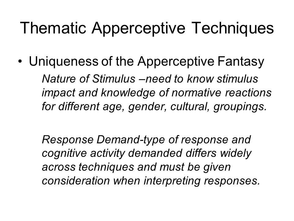 Thematic Apperceptive Techniques