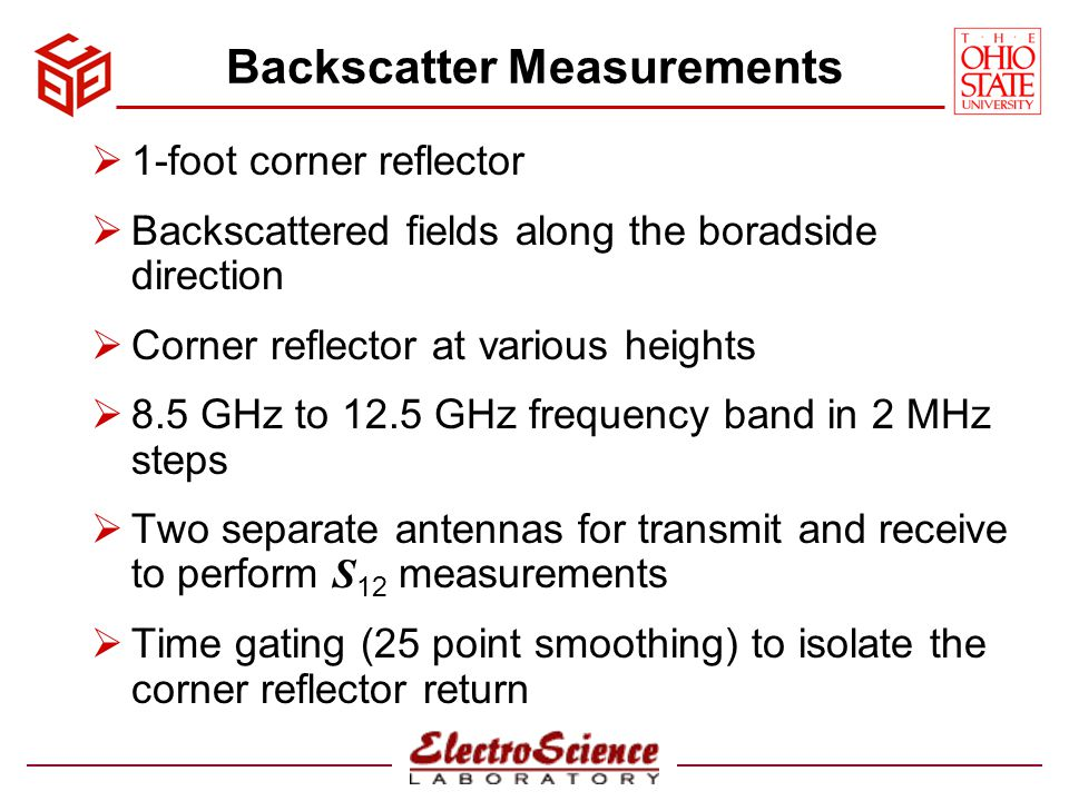 Backscatter Measurements