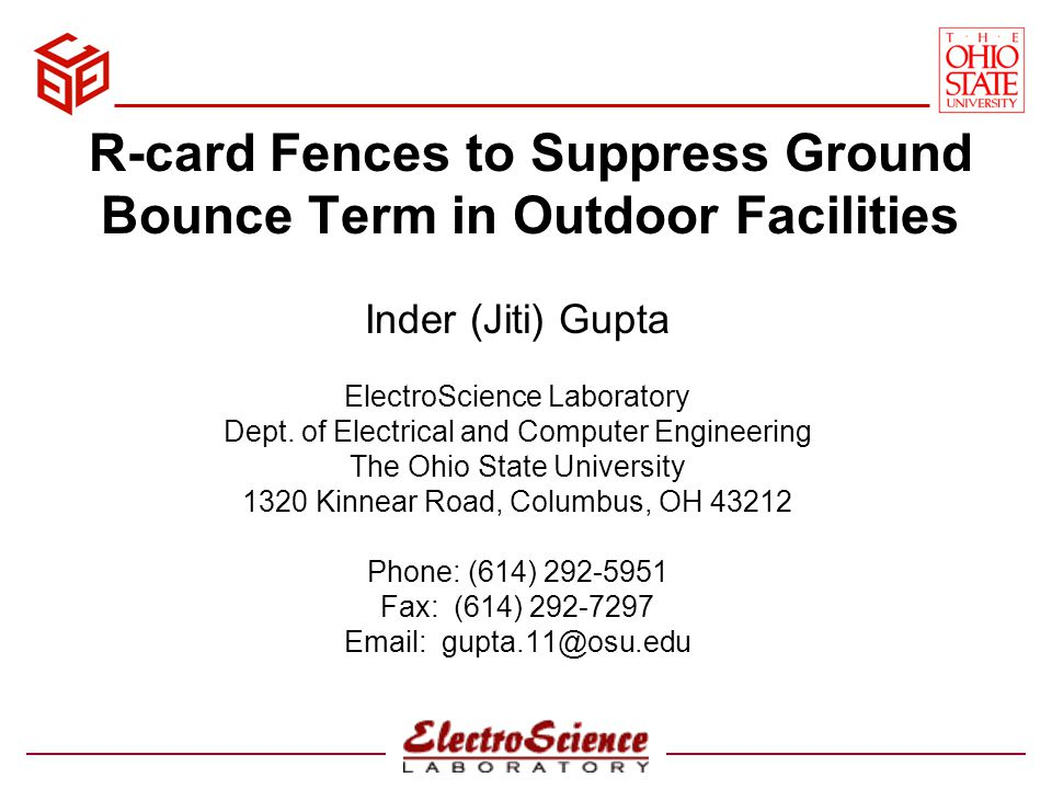 R-card Fences to Suppress Ground Bounce Term in Outdoor Facilities