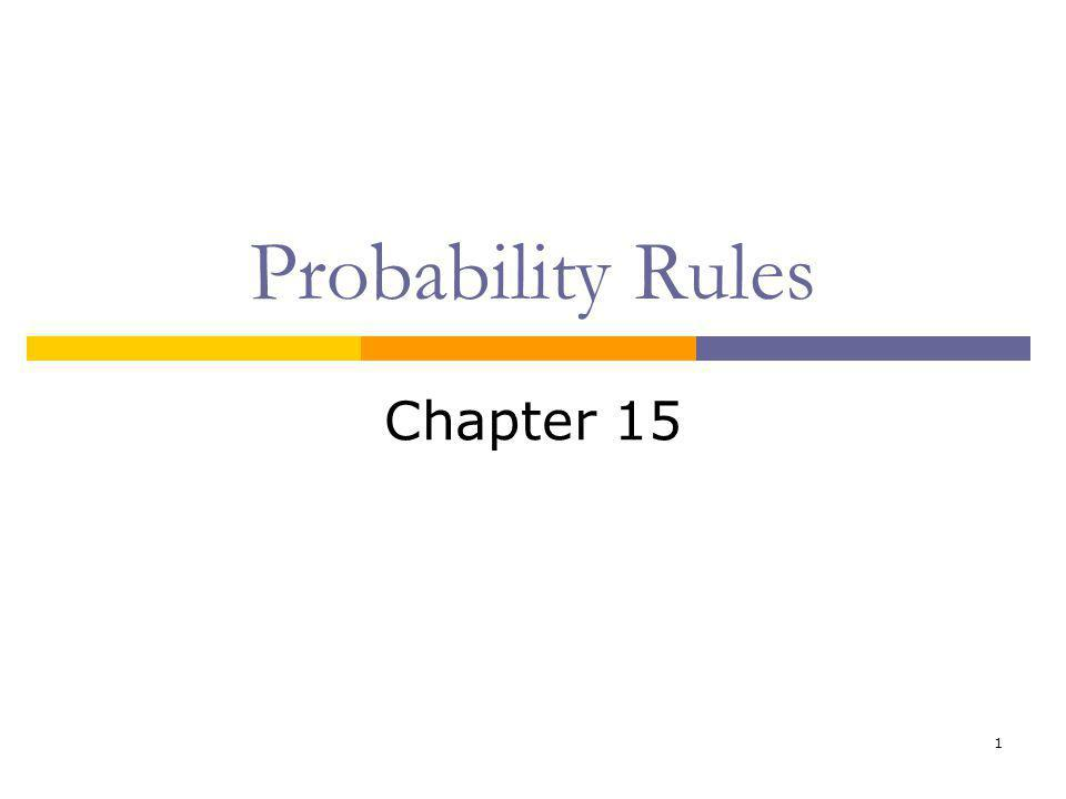 Probability Rules Chapter 15