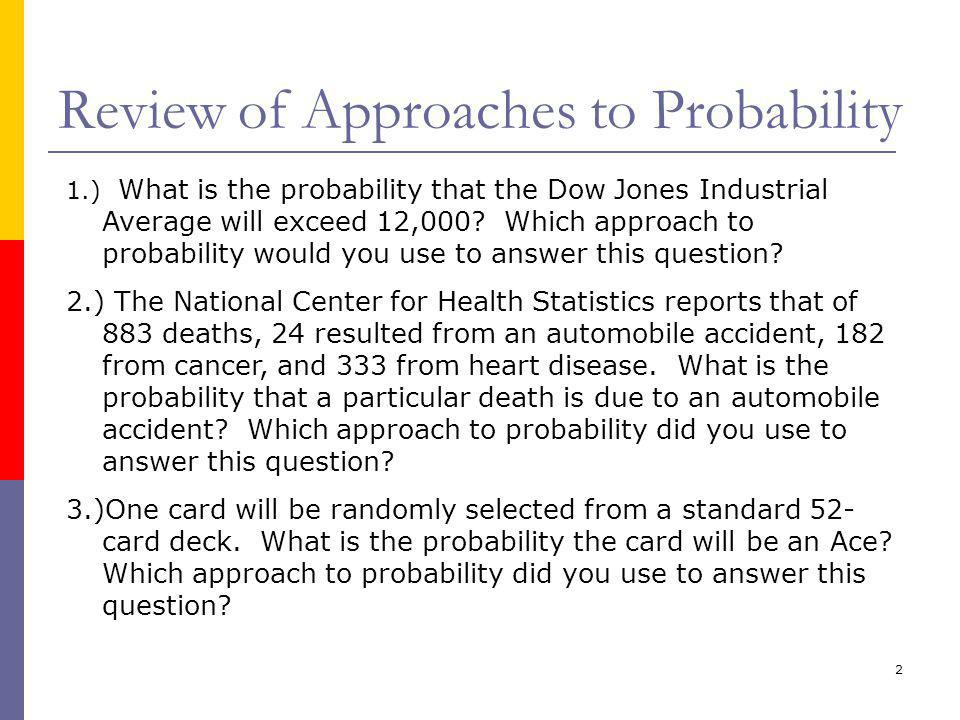 Review of Approaches to Probability