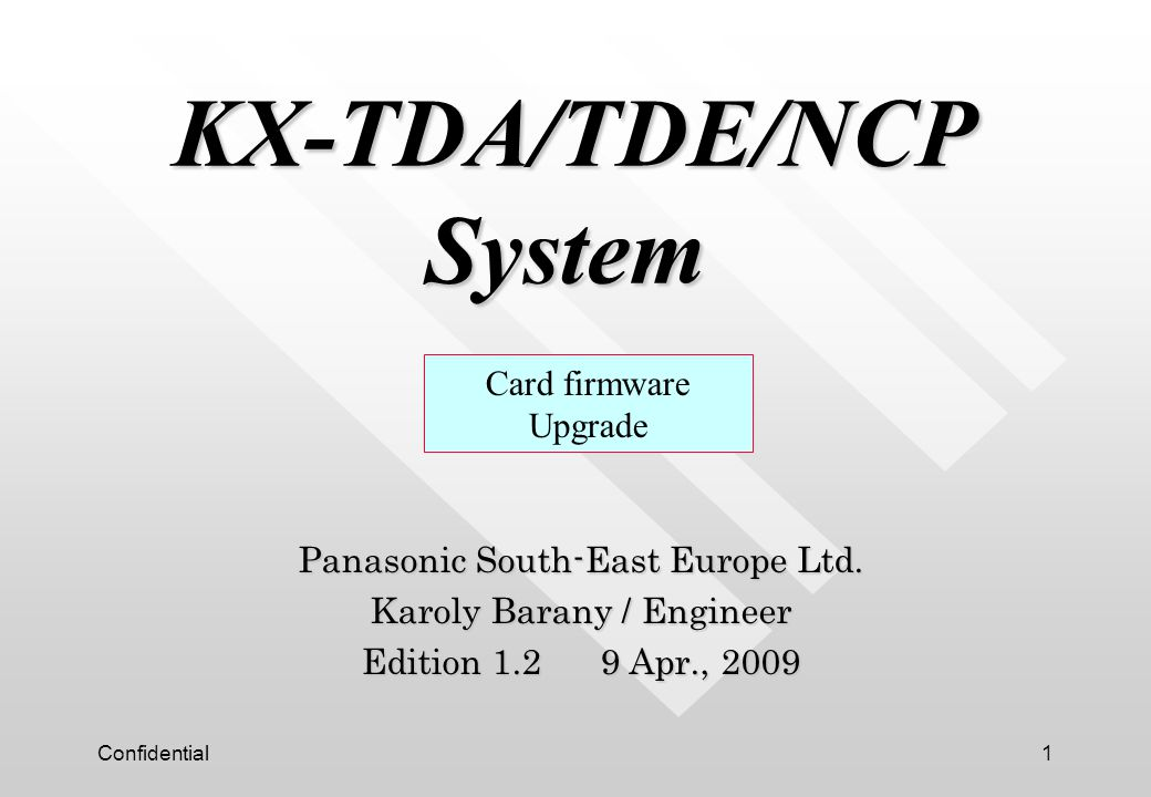 KX-TDA/TDE/NCP System