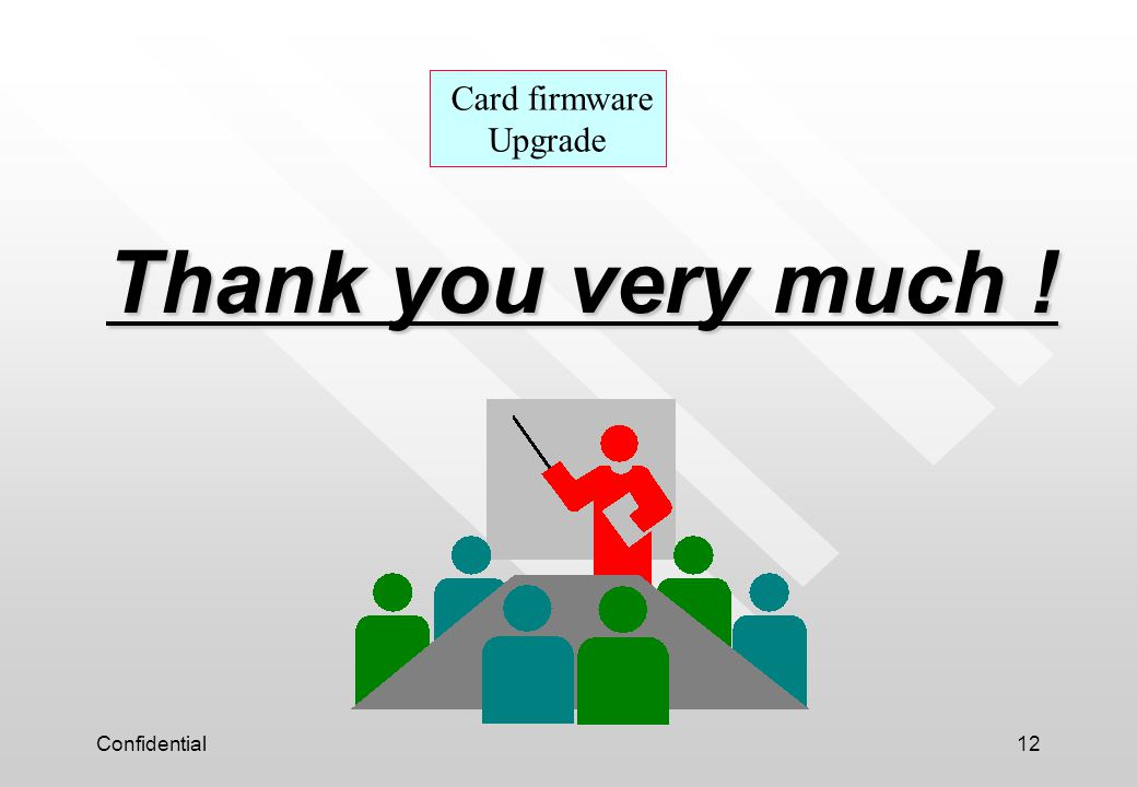 Card firmware Upgrade Thank you very much ! Confidential