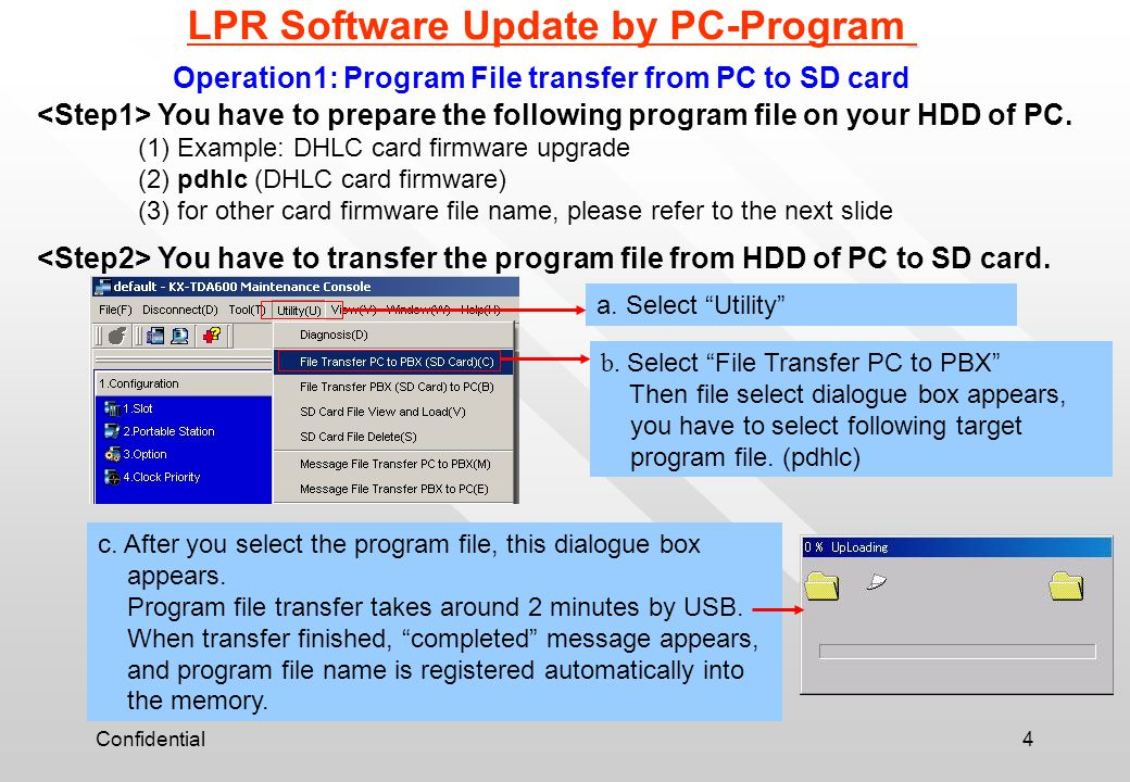 LPR Software Update by PC-Program