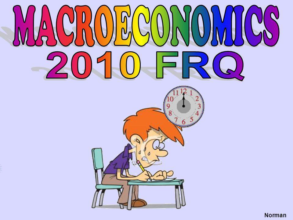 MACROECONOMICS 2010 FRQ Norman