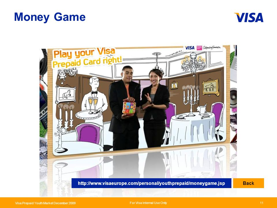 Money Game http://www.visaeurope.com/personal/youthprepaid/moneygame.jsp Back