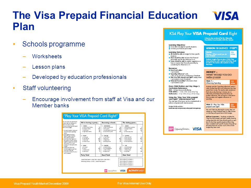 The Visa Prepaid Financial Education Plan
