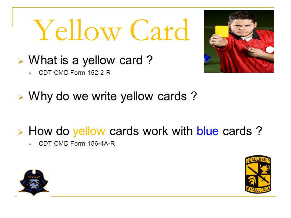 Yellow Card What is a yellow card Why do we write yellow cards