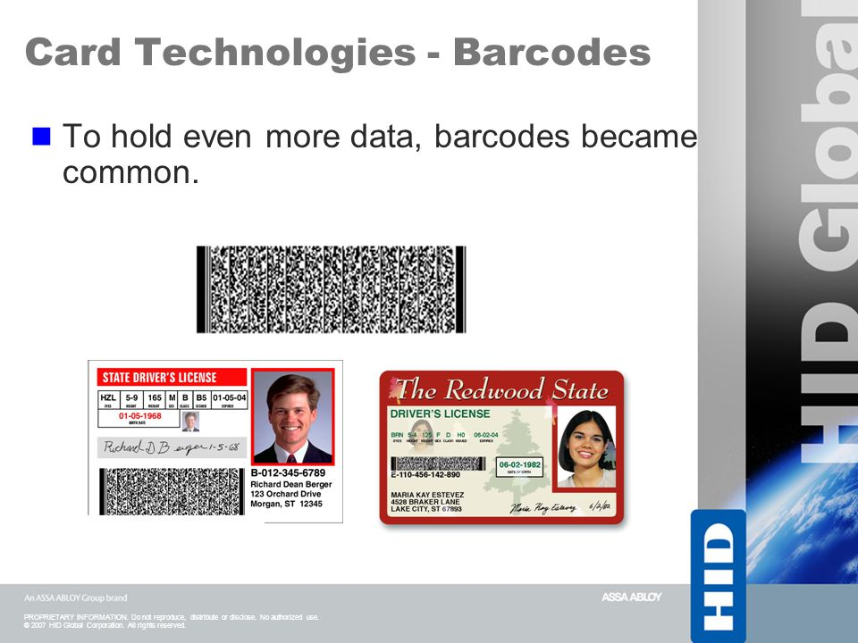 Card Technologies - Barcodes