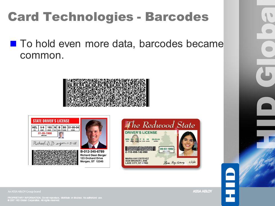 Card Technologies - Barcodes