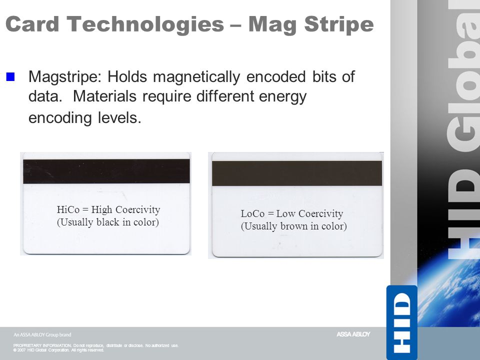 Card Technologies – Mag Stripe
