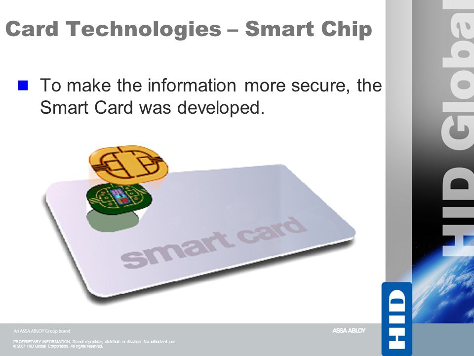 Card Technologies – Smart Chip