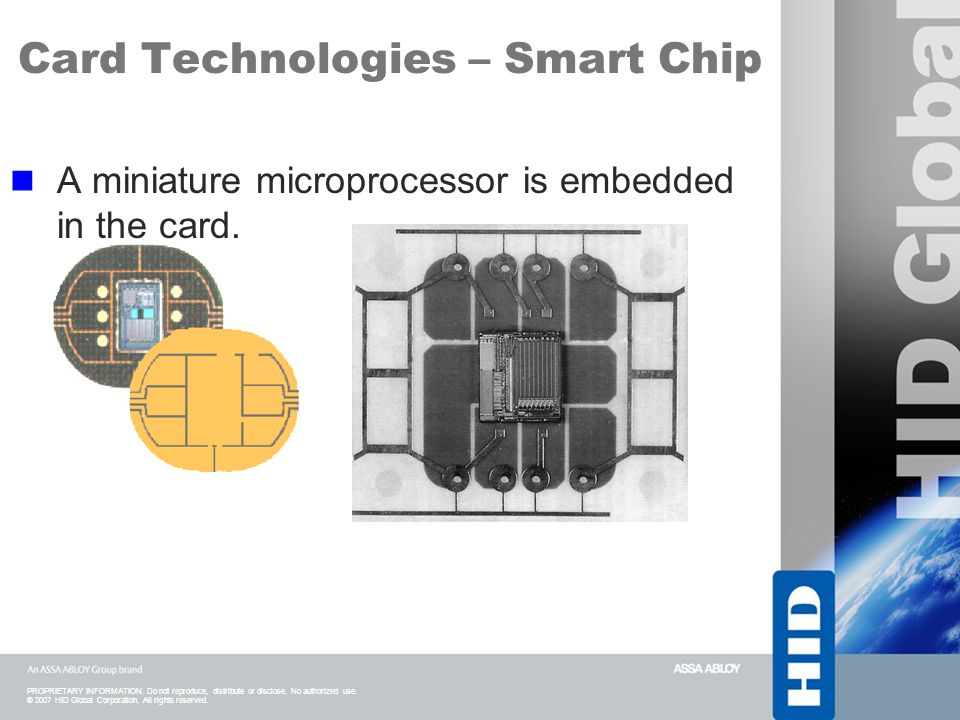 Card Technologies – Smart Chip