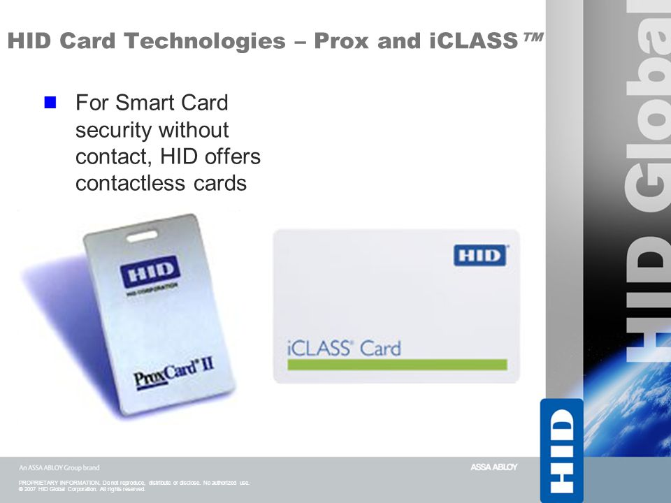 HID Card Technologies – Prox and iCLASS™