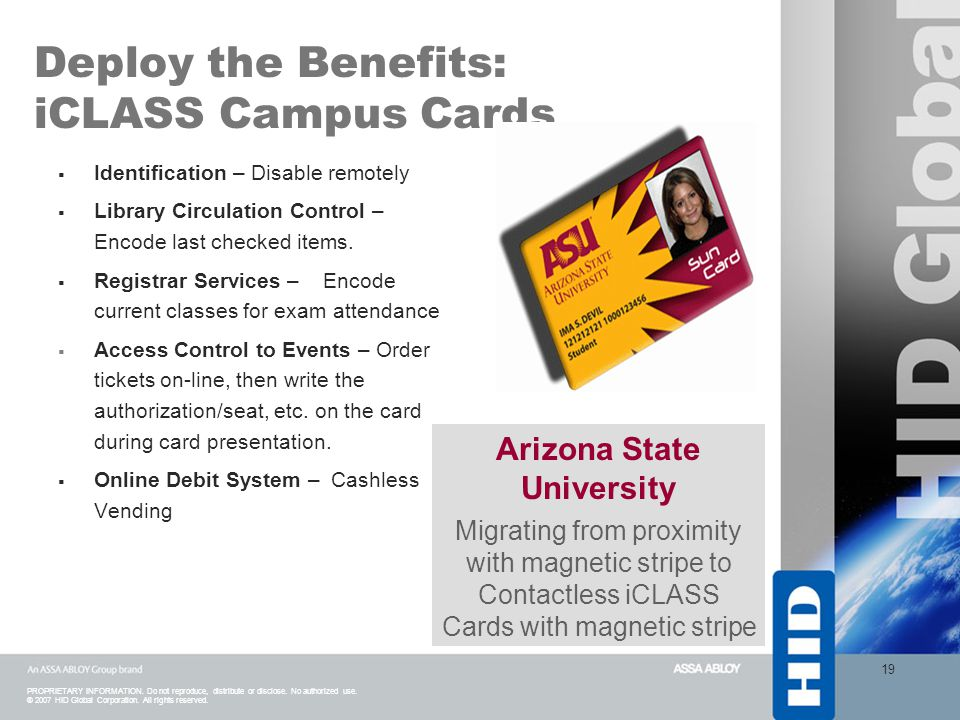 Deploy the Benefits: iCLASS Campus Cards