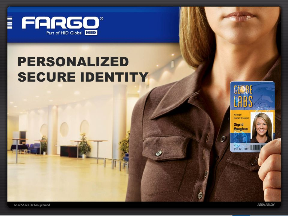 PERSONALIZED SECURE IDENTITY