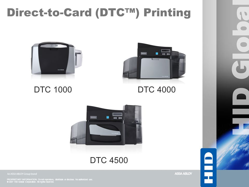 Direct-to-Card (DTC™) Printing