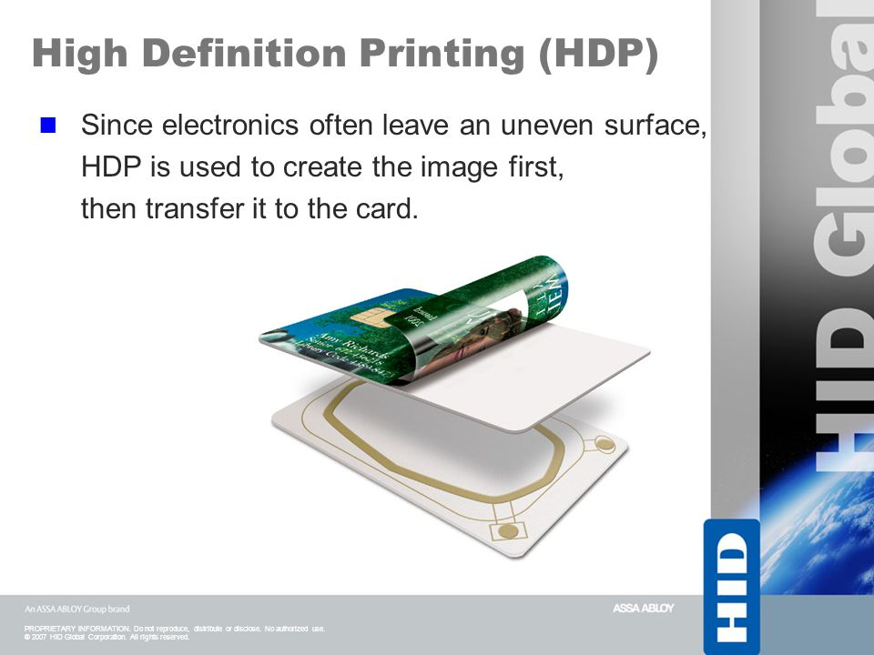 High Definition Printing (HDP)