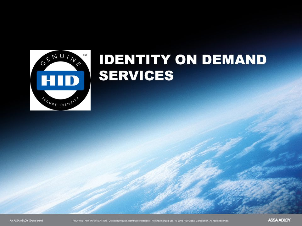Title of Presentation IDENTITY ON DEMAND SERVICES