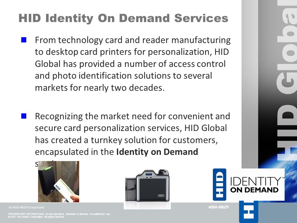 HID Identity On Demand Services