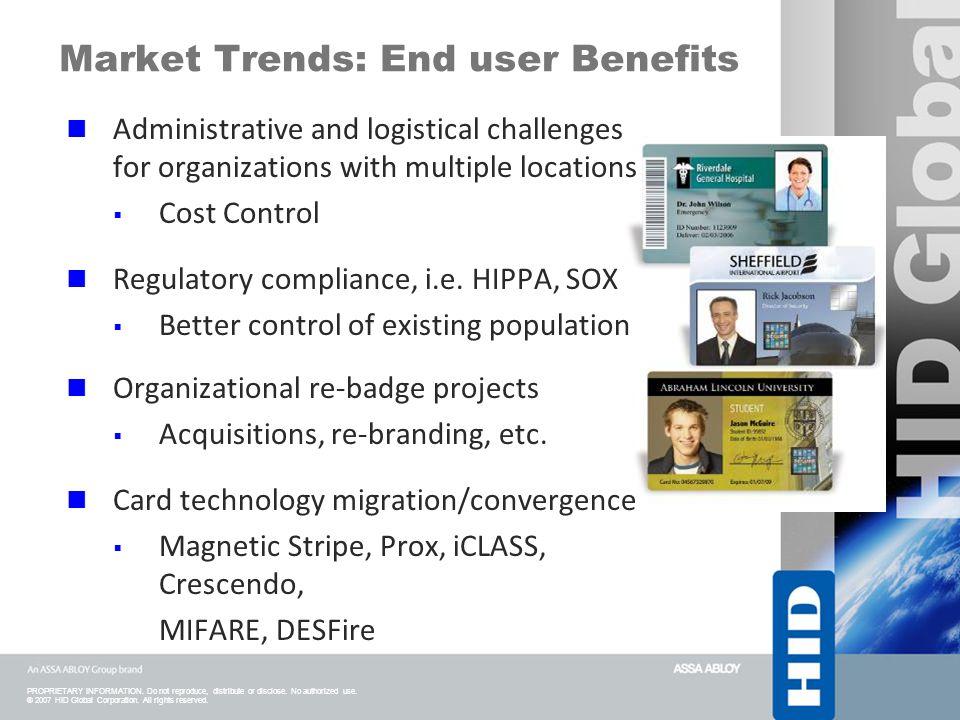Market Trends: End user Benefits