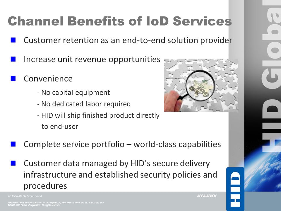 Channel Benefits of IoD Services