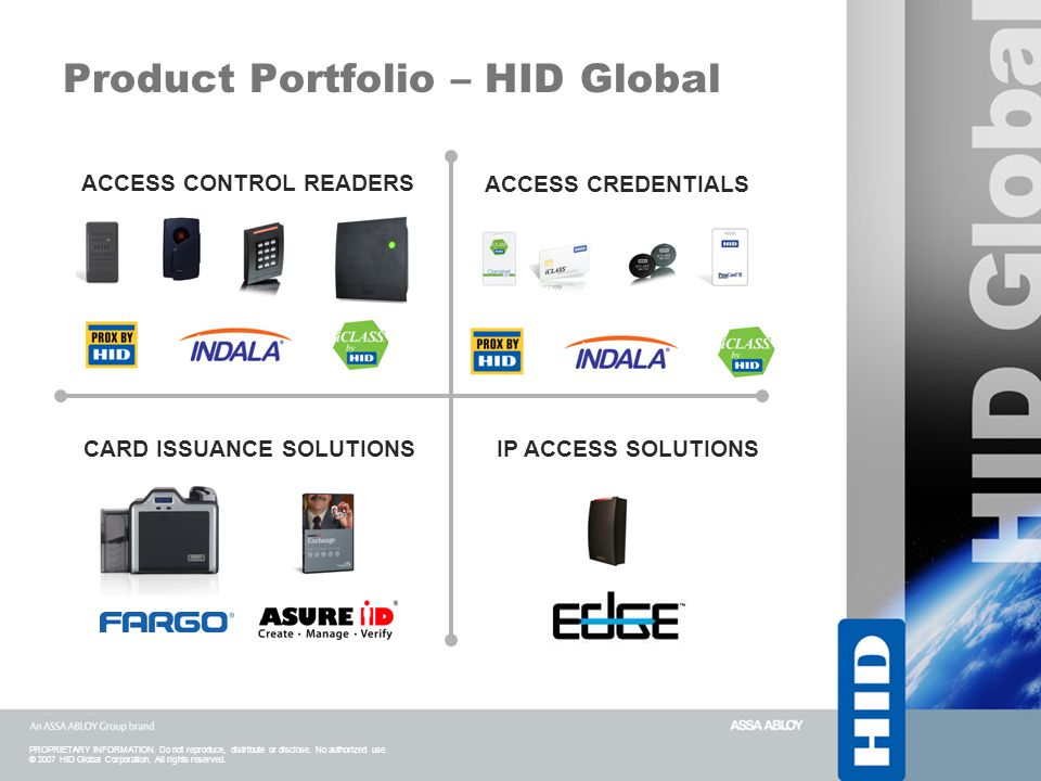 Product Portfolio – HID Global