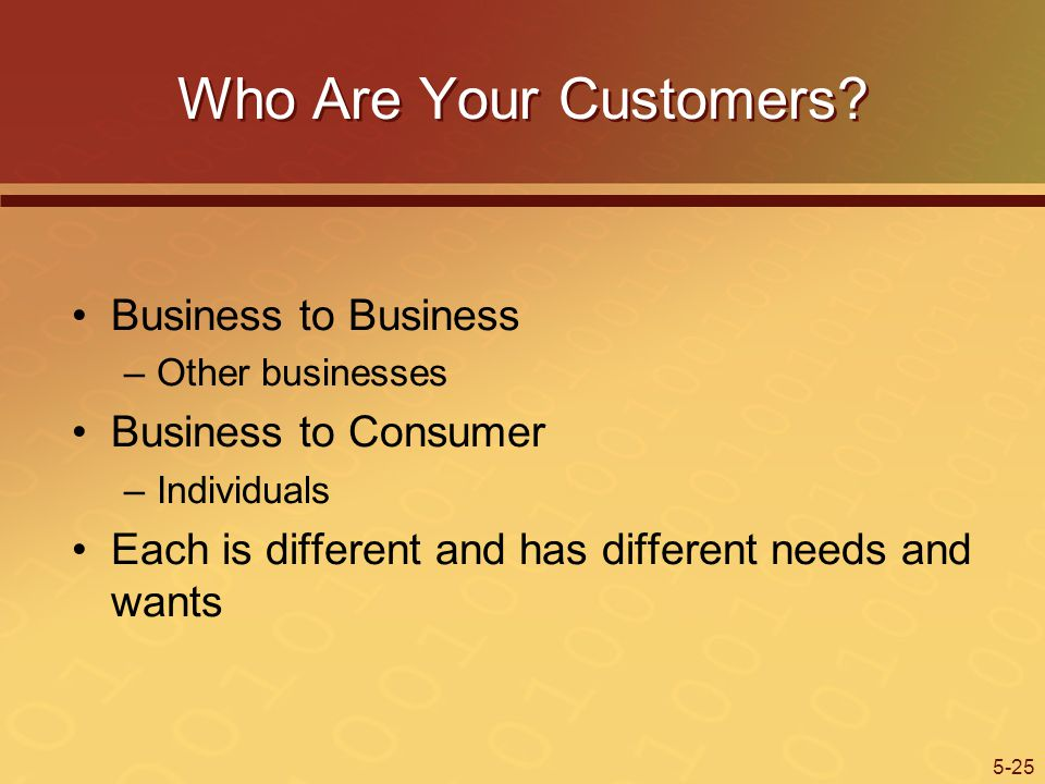 Who Are Your Customers Business to Business Business to Consumer