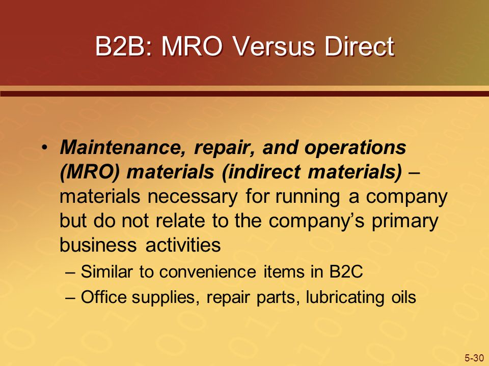 B2B: MRO Versus Direct