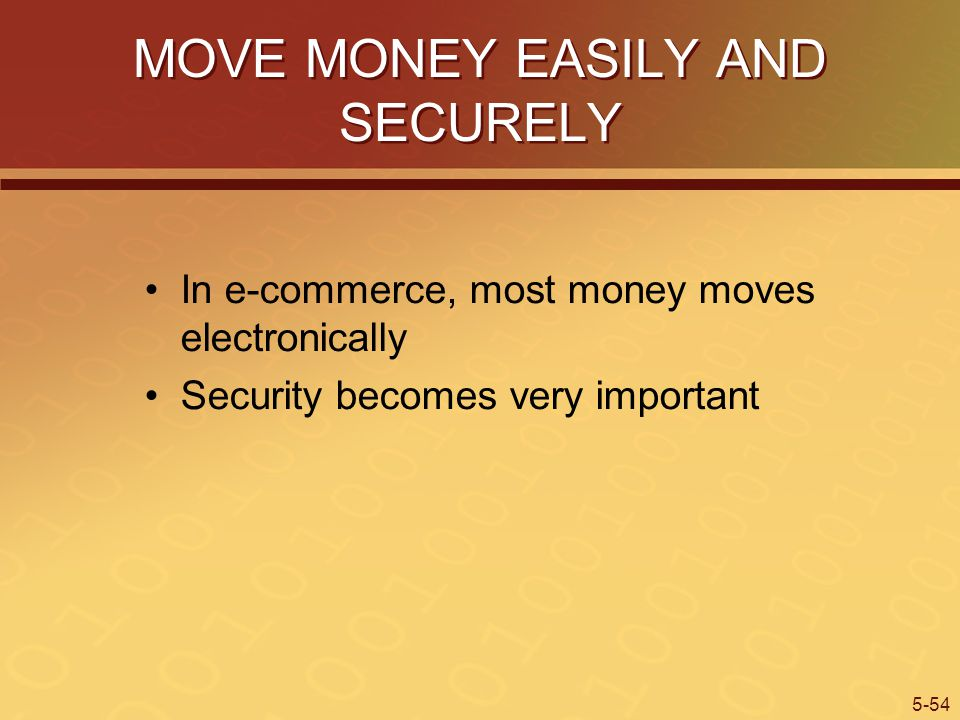 MOVE MONEY EASILY AND SECURELY