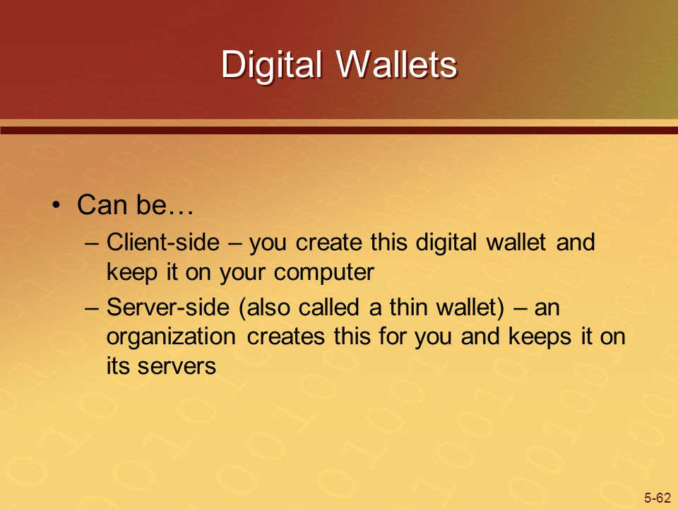 Digital Wallets Can be…