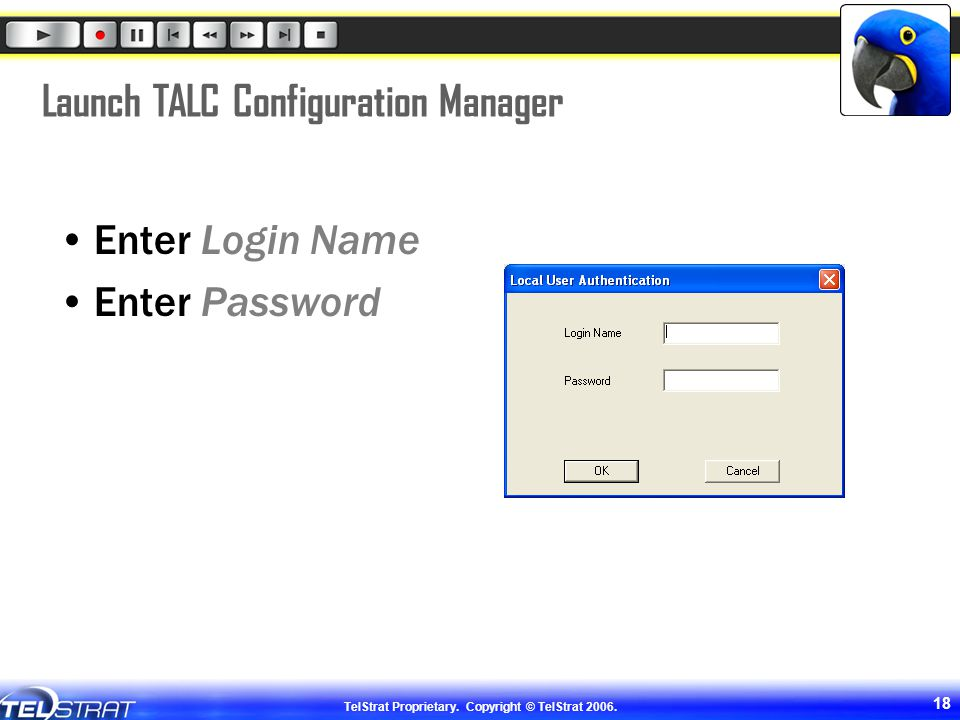 Launch TALC Configuration Manager