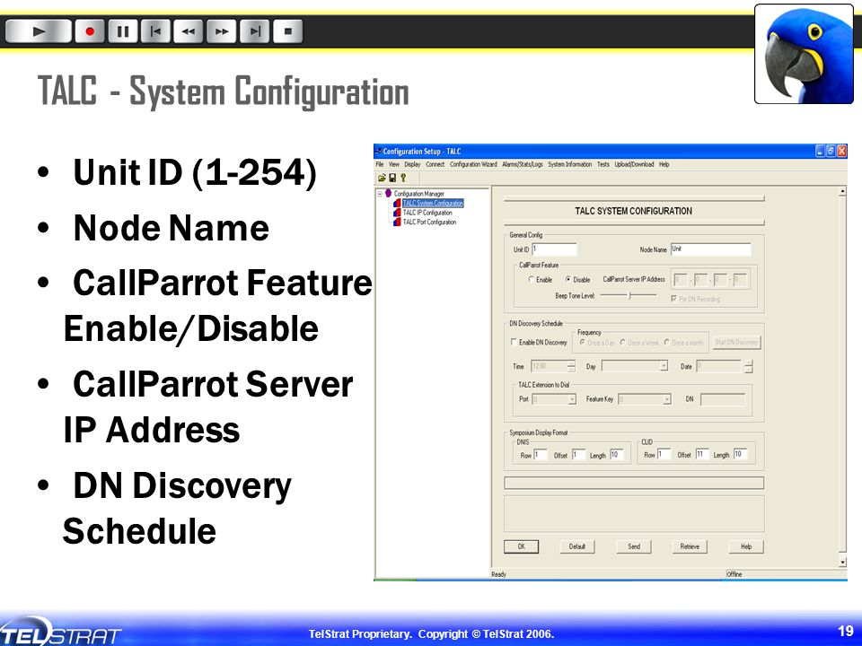 TALC - System Configuration