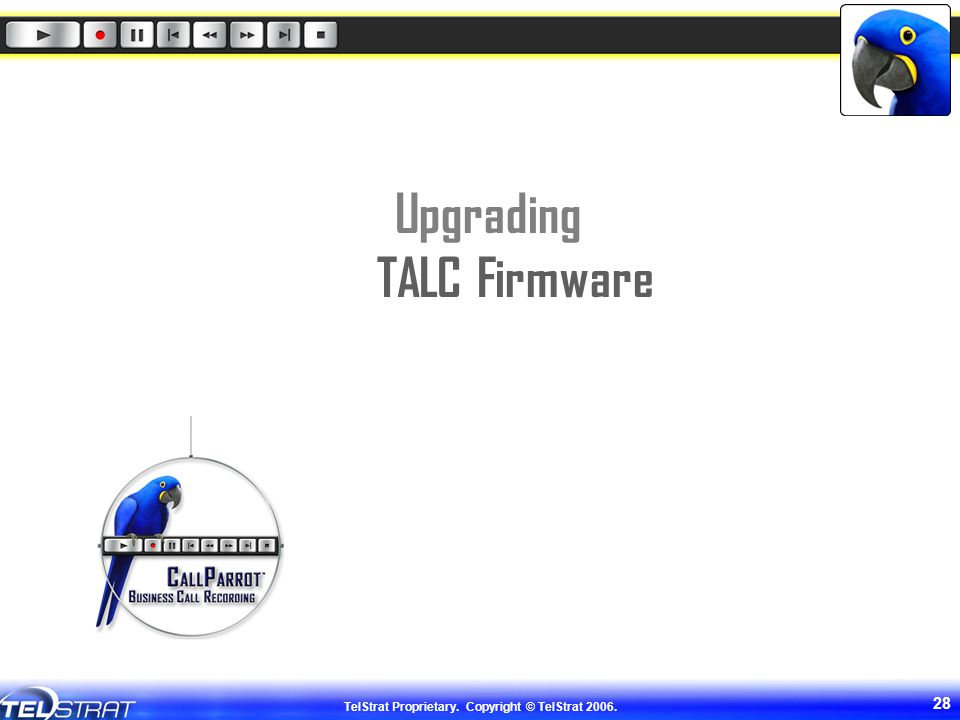 Upgrading TALC Firmware