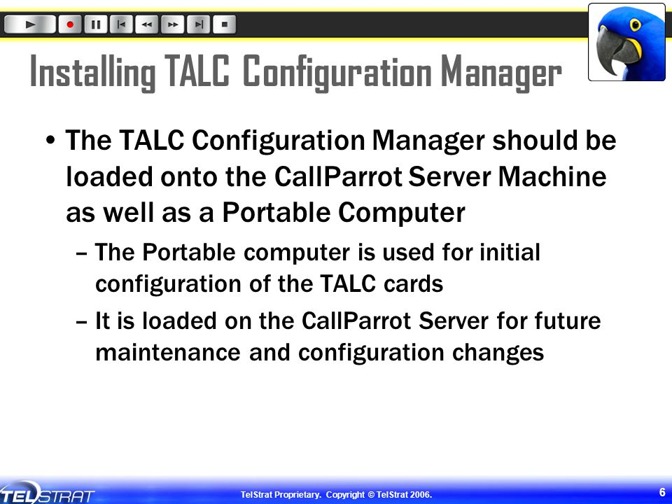 Installing TALC Configuration Manager