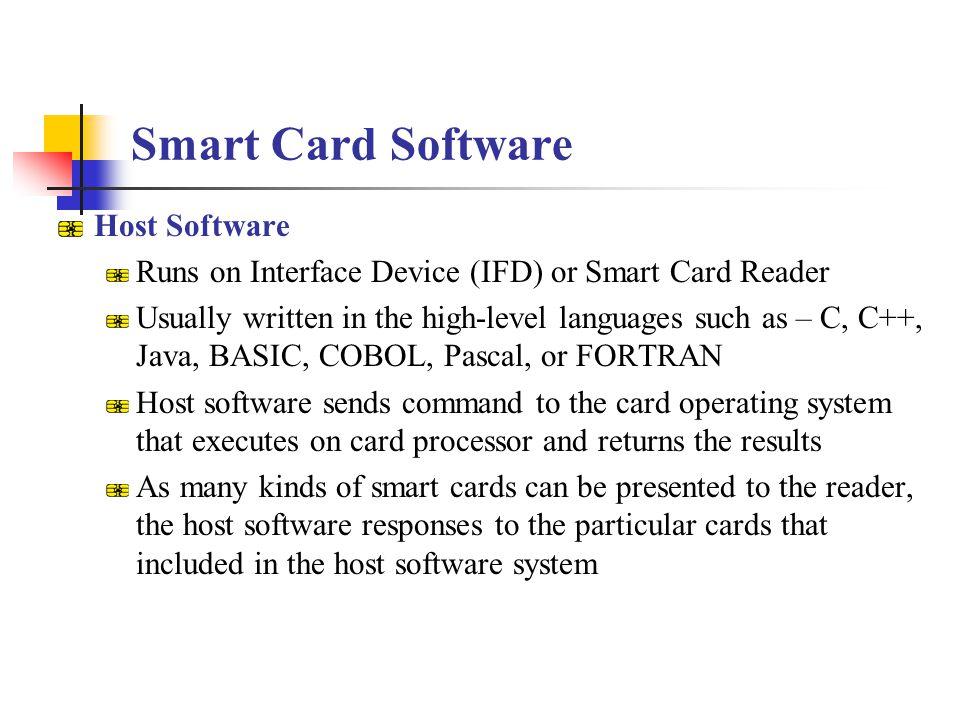 Smart Card Software Host Software