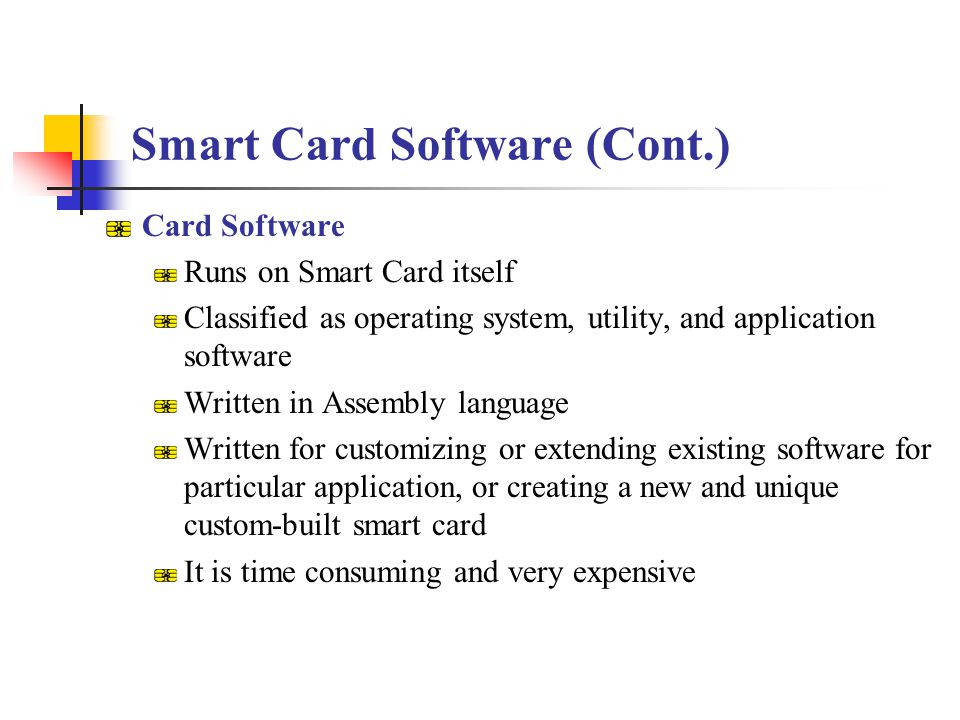 Smart Card Software (Cont.)