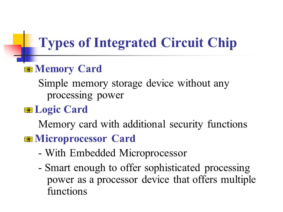 Types of Integrated Circuit Chip