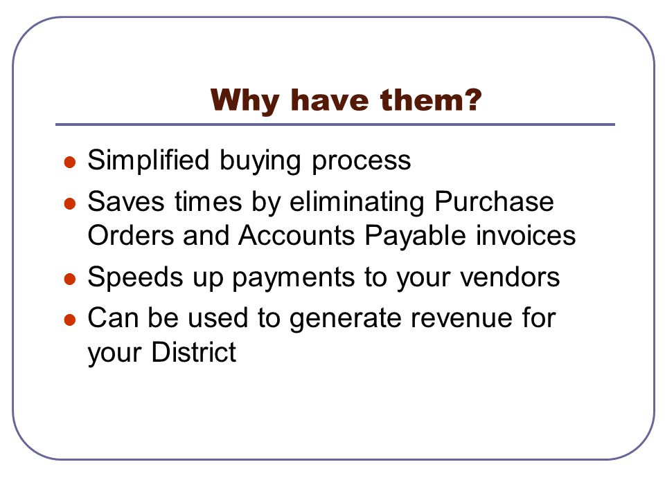 Why have them Simplified buying process
